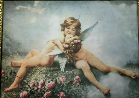 Engelsbild heilige Bilder Engel 50x70 Wandbild auf MDF Bild
