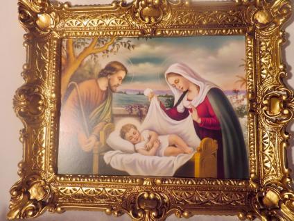 Geburt von Jesus Christus Maria Josef religiöse Bild 56x46 Heiligenbilder Krippe