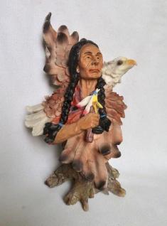 Indianer Adler Westernfiguren 30x21x13 Indianerfigur groß Western Deko Statue