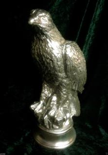 ADLER Weißkopfseeadler Adlerfigur 40x 22x14 Deko Gips GOLD Adler Skulptur