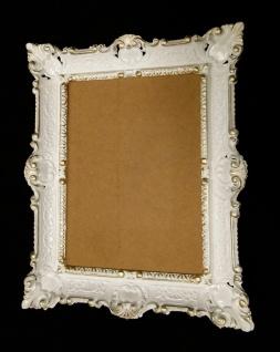 Bilderrahmen Weiß gold vintage, Shabby Chic, Barock, Edel, Retro, 56x46
