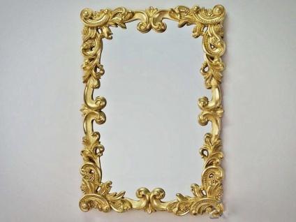 Großer Barock Wandspiegel Gold Ornament 71x100 Spiegel goldener Flurspiegel