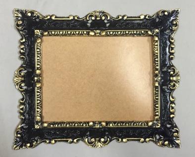 Bilderrahmen Antik Schwarz-Gold Barock Rechteckig 45x37 Gemälderahmen mit Glas
