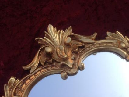 Wandspiegel Antik Gold Oval Retro 50x35 Vintage Barock Spiegel Badspiegel C444G - Vorschau 4