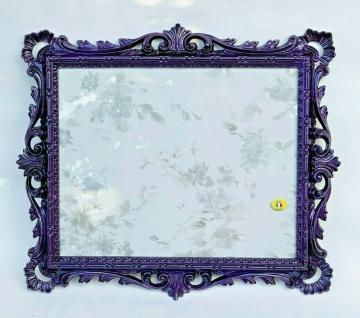 Bilderrahmen Barock Violett Antik 43x37 Prunk Fotorahmen 31x25 Extraanfertigung