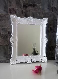 Wandspiegel WEIß Barock Shabby, Jugendstil 57x47 Antik Badspiegel Flurspiegel - Vorschau 5