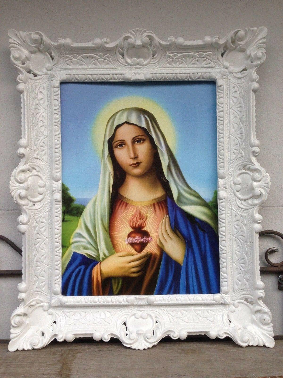 Madonna Muttergottes Heilige Maria 56x46 Kunstdruck Bild Wandbild Gemälde Maria