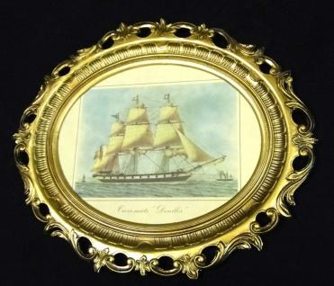 Segelschiff Gemälde Schiff Denlees Bild Bilderrahmen groß 58X68 Fotorahmen - Vorschau 2