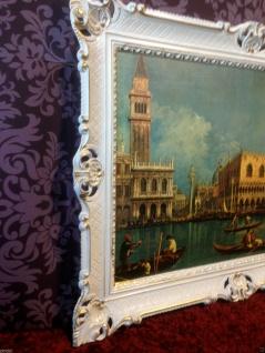 Bild mit Rahmen Weiß-Gold Wandbild NOSTALGIE ITALIEN 90x70 Venedig Bild gondol - Vorschau 2