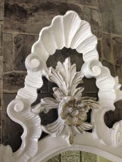Wandspiegel Barock Weiß Silber Spiegel Antik Badspiegel Barspiegel 83x43 Oval - Vorschau 4