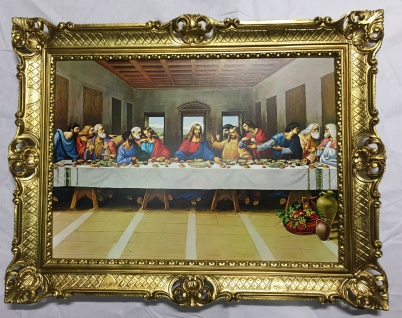 Gemälde Das Abendmahl Leonardo Da Vinci Ikonen 12 Apostel 90x70 Jesus Christus