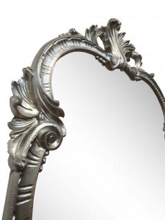 WANDSPIEGEL Antik Silber Oval 99x55 Antik Spiegel Barock Friseurspiegel C410 NEU - Vorschau 4