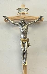 Christliche Kruzifix Kreuz Jesus Christus Wandkreuz 38x21 Holz Altarkreuz