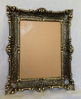 Bilderrahmen Schwarz-gold Barock+Glas Gemälde/Spiegel/Fotorahmen 56X46 Antik - Vorschau 4