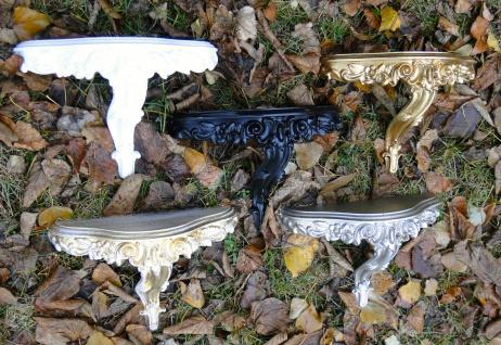 Wandkonsole Konsole Barock Spiegelablage Silber Schwarz Gold Weiß 31x21 Antik