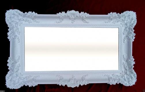 Wandspiegel Barock ANTIK WEISS Spiegel Repro DEKO 97x57 Groß