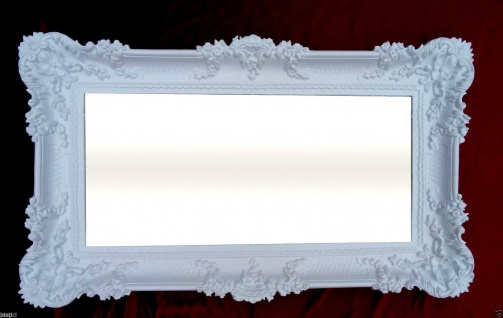 Wandspiegel Barock WEISS Spiegel Repro DEKO 97x57 Groß