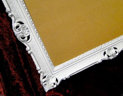 Bilderrahmen Barock Weiß-Silber Hochzeitsrahmen Antik 90x70 Fotorahmen groß Deko - Vorschau 3