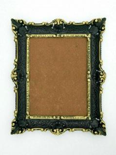 Bilderrahmen Schwarz-gold Barock+Glas Gemälde/ PRUNK /Fotorahmen 56X46 Antik
