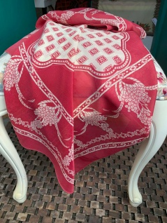 Bandana Halstuch Schal 93x93 Kopftuch Rosa Pink Weiß Tuch Foulard Esarp Hijab