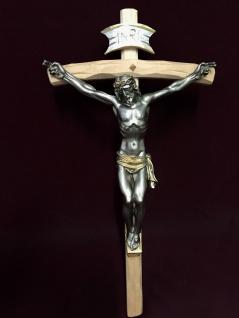 Christliche Kruzifix Kreuz Jesus Christus Wandkreuz 45x25 Holz ALTARKREUZ SCC6