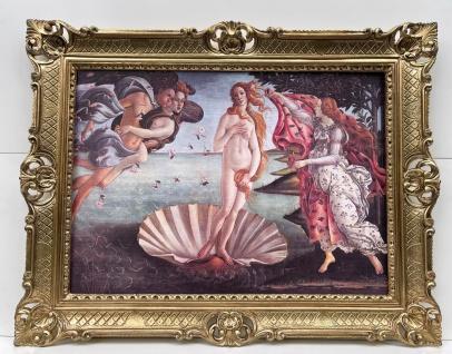 Bild mit Rahmen Die Geburt der Venus Botticelli 90x70 Venus am Strand Aphrodite