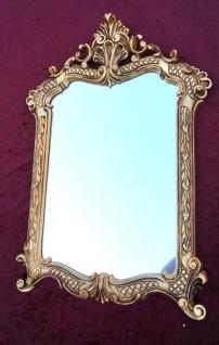 Wandspiegel Gold Antik Badspiegel 54X37 Shabby Flurspiegel Barock Spiegel c499 - Vorschau 1
