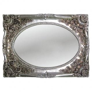 Wandspiegel Antik Silber 118x88 Barock Oval Spiegel Flur/Friseurspiegel Rahmen