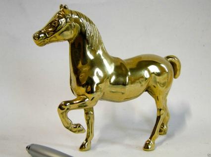 Pferd Messing Pferdefigur Tierfigur 14x15cm Vitrinen Deko Messing Pferd NEU