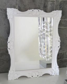 Wandspiegel Weiß 30x24 Antik Badspiegel Barock Flurspiegel Kosmetikspiegel