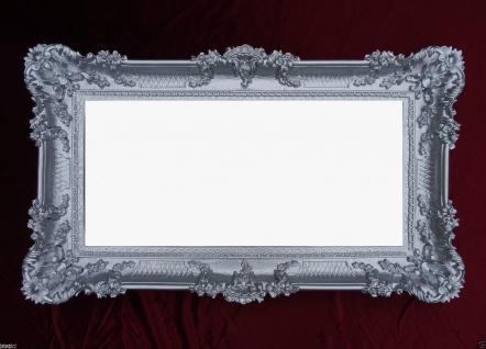 Wandspiegel Barock SILBER Spiegel Antik Repro 97x57 Badspiegel Groß Flurspiegel