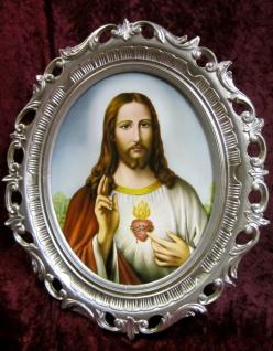 Jesus Bild Heiligenbild Jesus Gemälde Jesus Christus Herz 68x58cm Ikonenbild