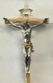Christliche Kruzifix Kreuz Jesus Christus Wandkreuz 35x18 Holz ALTARKREUZ SCC7