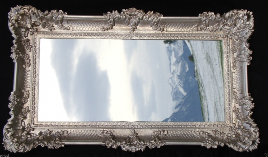 Wandspiegel Badspiegel Barock SILBERANTIK Spiegel Wand DEKO 97x57 Groß
