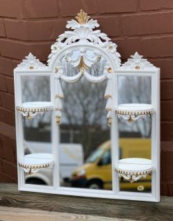Wandspiegel Barock weiß-gold mit mini Konsole Spiegelablage 60X51 spiegel c510
