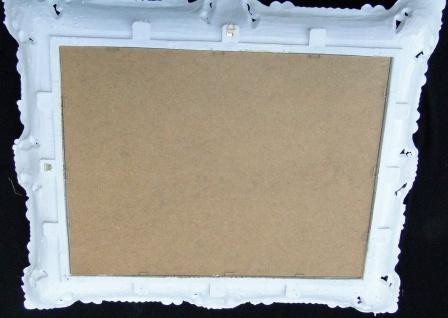 Wandspiegel Spiegel Barock Badspiegel Weiß-Gold Rechteckig 57x47 Antik Mirror - Vorschau 5