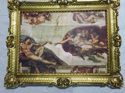 GEMÄLDE ADAMSHAND Michelangelo Die Erschaffung Adams 70x90 Anatomie