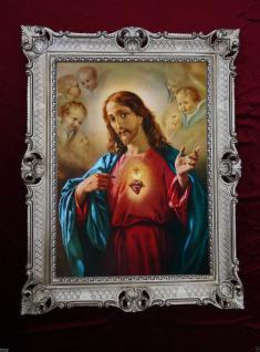 Bilder mit Rahmen jesus Christus Gerahmte Gemälde Bilder 90x70 Ikonen Jesus H2