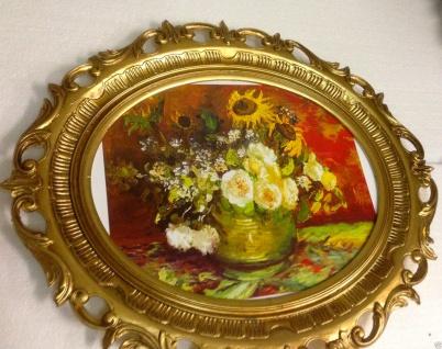 Rosen Bild Gemälde Blumen Kunstdruck mit Rahmen Bilderrahmen 68x58 Fotorahmen