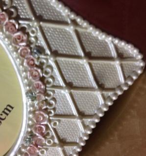 Bilderrahmen 20x15cm Creme Antik Rosa Barockrahmen Altweiß 10x15 Fotorahmen Oval - Vorschau 5