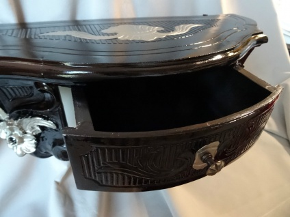 Wandkonsole/Spiegelkonsolen/Wandregal BAROCK ANTIK Schwarz-Silber B:50cm cp84 - Vorschau 2