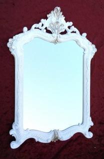 Wandspiegel Weiß-Silber Antik Badspiegel 54X37 Shabby Barock Spiegel c499