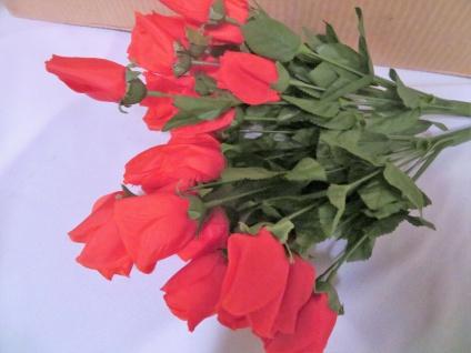 12 x Seidenblumen höhe 69 cm künstliche Rosen Rot Restposten Neu Ware - Vorschau 4