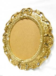 BILDERRAHMEN OVAL Gold Antik Barock Fotorahmen Rahmen 45X37 SpiegelrahmenNeu