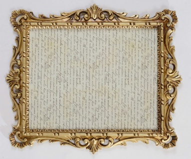 Bilderrahmen +Glas Barock Gold Antik 43x37 Bilderrahmen Fotorahmen 31x 25cm