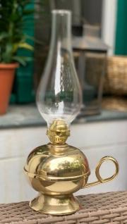 Öllampe Messing Antik Petroleumlampe Nachtlampe 33cm Windlicht Tischlampe
