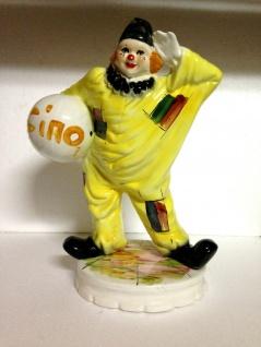 Gelbe Clown Ciao 55x42cm Statue Clown Figur porzellan Leichte Kratzer
