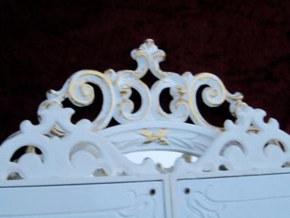 Wandspiegel Antik Oval Rechteckig Weiß Gold Badspiegel BAROCK 60X46 Spiegel c508 - Vorschau 4