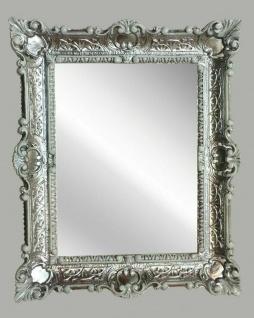 Wandspiegel Silber-Weiß Barock 56x46 Flurspiegel Antik Prunk Spiegel Retro