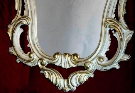 Wandspiegel WEIß-Gold Antik Spiegel Chic Barock 50X76 Badspiegel Retro Vintage